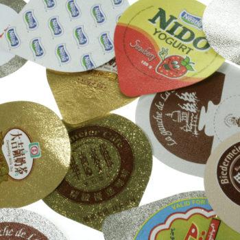 適用於食品,乳製品,飲料等包裝,可與塑膠容器熱封貼合